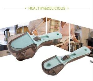 أدوات قياس المطبخ البيئة البلاستيك مقياس ملعقة قابل للتعديل ملاعق مجموعة أدوات الخبز PP + ABS + TPR DHA4981