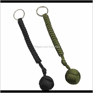 Outdoor Steel Ball Security Protection Bearing Self Defense Rope Lanyard Survival Tool Key Chain Multifunctional Keychain Bracelets Ty Qheml