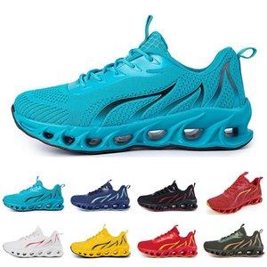 Zapatos de correr no marca Hombres Fashion Trainers Blanco Negro Amarillo Rojo Azul Blue Bred Mens Sports Sports Skeps # 90