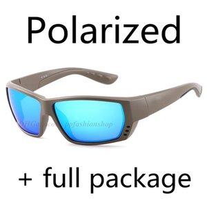 Neue ta polarisierte sonnenbrille meer angeln surfen gläser 9 farbe blau eva box tuch kraft papier box aufkleber 8 stück set
