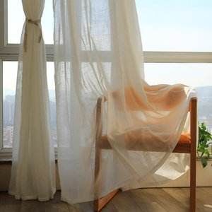 Curtain & Drapes High Quality Solid White Curtains Luxury Cross Window Screen Cloth Floating Balcony Semi Shading Cortinas