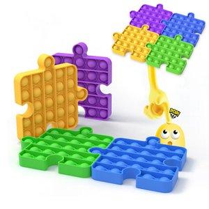 Splicable Pop Bubble Push It Fidget Sensory Toy Adult Anti-Stress Toy Children Sensory Toy To Relieve Autism Boys Girls Gift DHL Free