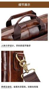 Bag Bag New Men Leather Leather 2020 Portable Male Messenger Natural Briefcase Gh