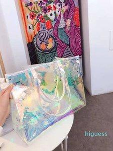 Дизайнер - женский ослепительный цвет цвет пресбиоп прозрачный портативный лазерный мешок сумки сумки женские девушки сумка