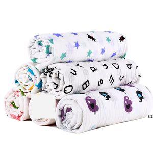 Muslin Baby Blanket Cotton Newborn Swaddles Bath Gauze Infant Wrap Kids Sleepsack Stroller Cover Play Mat 78 Designs DHA7383