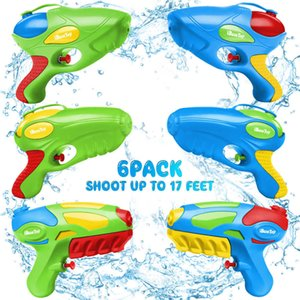 IBASETOY 6pcs Guns Water Shooting Play Game Toys Summer Swimming Pool Beach for Children Kids Party