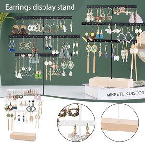 Organizzazione di stoccaggio della cucina Accessori per la toletta Accessori per l'orecchino dell'orecchino dello schermo con tre livelli di gioielli e puntelli # G30