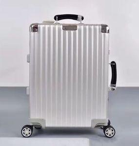 RI Silver style Travel Luggage Fashion Men Women Trunk Purse Rod Box Spinner Universal Wheel Duffel suitcases