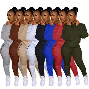 Fitness Clothing Sweatshirt Sports Suit Women Tracksuit Two Piece Set Long Sleeve Zipper