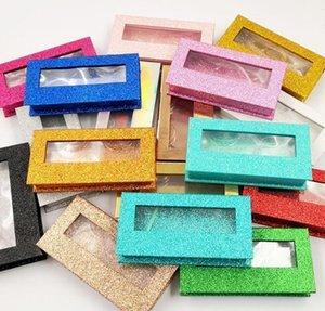 Wrap Shinning Colors Wholesale Square False Eyelash Packaging Box Fake 3D Mink Eyelashes Boxes Faux Cils Magnetic Case Lashes Empty Gi Zxrln