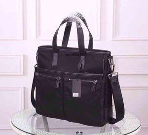 briefcases shoulde men waterproof canvas cowhide leather fashion Female shoulder Tote document bag handbag for man
