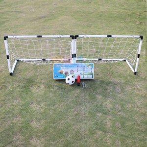 2шт мини футбол футбольный мяч цель складной пост Net + насос детские спорты крытый открытый игровые игры игрушки дети