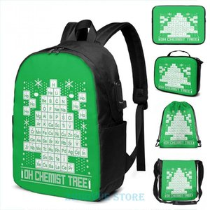 Backpack Oh Chemistry Tree Chemist Ugly Christmas Sweater USB Charge Men School Bags Women Cosmetic Bag Travel Laptop