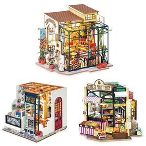 2021 Rolife DIY Dollhouse Happy Corner Series Wooden Miniature Doll House for Birthday Gift 201217