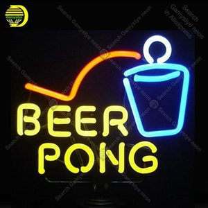 NEON SIGN For Beer Pong NEON Bulbs Lamp GLASS Tube Decor Wall Club Beer Bar Room Handcraft Advertise shop station wholesale