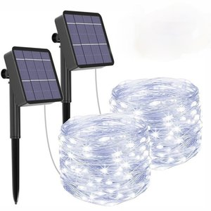 Solar String Lights Fairy Holiday Christmas For Christmas, Lawn, Garden, Wedding, Party and Holiday(1 2Pack)