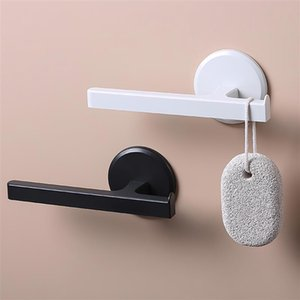 Towel Racks Drying Holder T-Shaped Bathroom Nail-Free Bar Rack Household Wall-Mounted For Kitchen