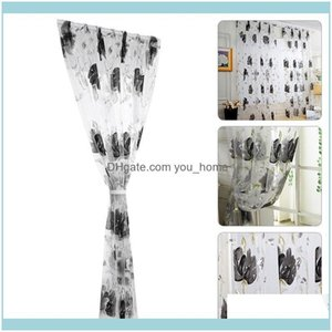 Curtain Deco El Supplies Gardencurtain & Drapes 1*2M Printing Modern Simple Pastoral Living Room Bedroom Ink Home Decoration Drop Delivery 2
