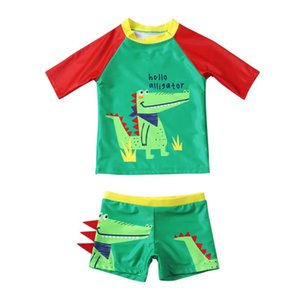 Summer Toddler Kids Baby Boys Clothes Set Cartoon Patchwork Swimwear Swimsuit Outfits Sets Children's Clothing One-Pieces