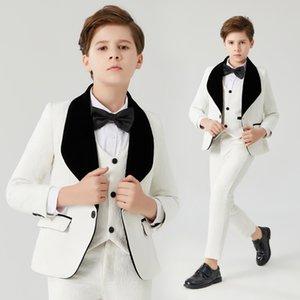 Boy Suits Formal Suit for Boy Costume Boys white jacquard suit Flower Boys Formal Suit Kids Wedding Tuxedo