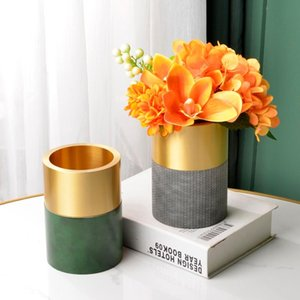Vases Light Luxury Vase Floral Set Artificial Flower Decoration Living Room TV Cabinet Dining Table Coffee Desktop Bouquet Fake