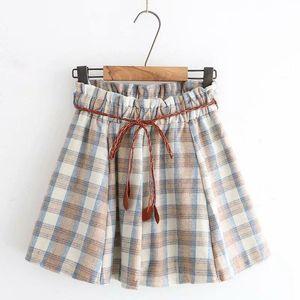 Japanese Soft Girl Plaid Skirt Autumn And Winter Retro Wild Uniform Woolen Student Pleated Skirts