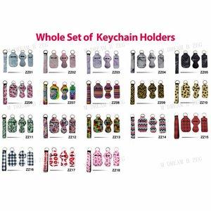 4Pcs Lot Neoprene Wristlet Keychains Party Favor Lanyard Strap Band Split Ring Key Chain Holder Key Hand Wrist Lanyard Keychain