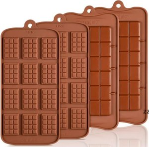Cavity Break-Apart Chocolate Mould Tray Non-Stick Silicone Protein and Energy Bar Candy Molds Food Grade HWE8349