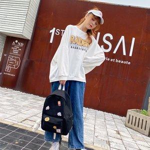 Backpack Autumn 2021 Korean Style Nylon Waterproof Schoolbag Simple Letter Lovers Leisure Outdoor