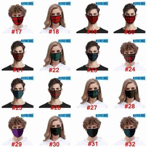 3D Fashion Plaid Face Mask For Adult Kids Ice Silk Dustproof Mouth Mask Windproof Washable Reusable Protective Designer Mask CYZ2612 500Pcs 333