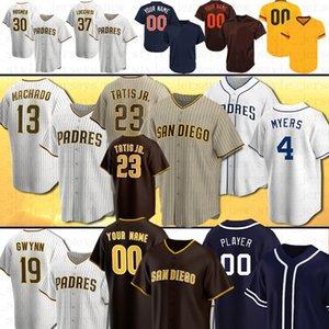 23 Fernando Tatis Jr. San Diego Özel Padres Beyzbol Formaları 13 Manny Machado Kinsler Tatís Tony Gwynn Wil Myers Eric Hosmer Mens Kadınlar Darvish