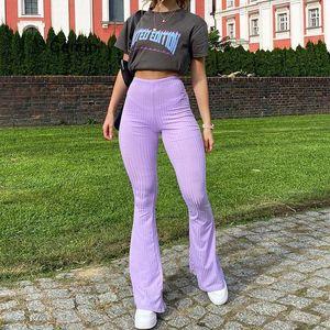 High Street Casual Solid Wide Leg Pants Women Autumn Fashion Office Ladies Loose Bottoms Slim Soft Elastic Women's & Capris