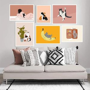Paintings Cat Gifts Wall Art Canvas Painting Funny Cats Posters And Prints Vintage Pictures For Living Room Kitchen Cuadros Decor