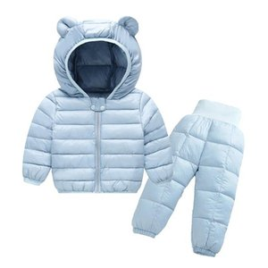Melario Winter Children Kids Clothing Sets Warm Faux Down Jackets Clothing Sets Baby Girls Baby Boys Snowsuit Coats Overcoat 210412
