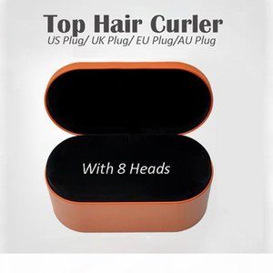 EU UK US AU plug 8Heads Multi-function Hair Styling Device Hair Dryer Automatic Curling Iron Gift Box