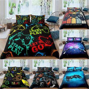 Bedding sets 2 3 Pcs Gamer Duvet Cover Set Queen King Kids Boys Girls Bed Game Quilt Comforter