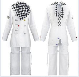 Anime Danganronpa Kokichi Oma Cosplay Costume Mens White Long Sleeve Trousers Halloween Carnival Funny Costume Anime Costumes