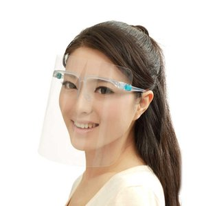 패션 착용 프레임 교수형 귀 마스크 투명한 전체 얼굴 깨끗한 격리 마스크 안전 보호 스플래시 오일 재사용 가능한 마스크