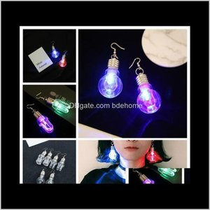 Dangle Chandelier Cool Colorful Rainbow Light Bulb Novelty Drop Quirky Retro Fashion Party Earrings For Male And Female Common G0Xp Gudqt