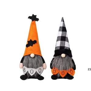 Stock Halloween Ornaments BOO Bat Halloween Decorations for Home Halloween Gnome Doll Kids Toys DIY Festival Bar Home Party HWD10131