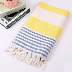 Cotton Turkish Beach Towel For Swimming Spa Shower Lightweight Portable Super Absorbent 100x180cm
