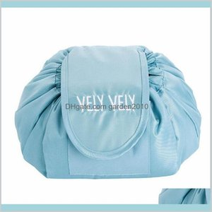 Storage Bags Home & Organization Housekeeping Home Garden Lazy Makeup Bag Cosmetic Organizer Drawstring Travel Pouch Simple Style Logo