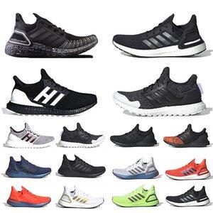 أحذية رياضية للرجال والنساء من جلوبال كوينز ألترا بوست 20 حذاء رياضي يسمح بالتهوية بتقنية النيلي بكين ألترابوست 4.0 ثلاثي أسود ثلاثي فولت للرجال والنساء