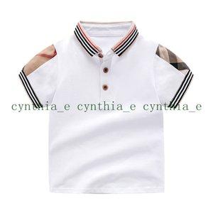 Retail Summer Baby Boys Girls T-shirts Cotton Kids Short Polos Sleeve T Shirt High Quality Children Turn-down Collar Plaid T-shirt Clothing