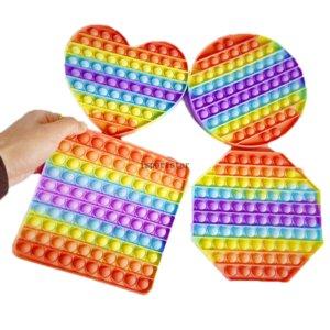 Big Size Push Bubble Fidget Toys Autism Needs Squishy Stress Reliever Toys Adult Kid Anti-stress Fidget Squeeze Board