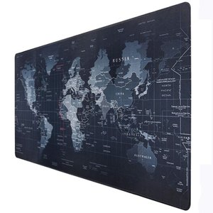 Gaming Computer Mouse Pad Large World Map Mouse Mat Big Desk Mat Non-Slip Rubber Base Mousepad for Laptop PC Game Waterproof