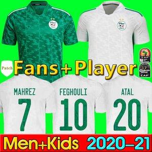 Hayranlar oyuncu versiyonu Cezayir 2021 ev uzakta futbol formaları Mahrez Feghouli Bennacer Atal 20 21 Cezayir Futbol Gömlek Erkekler + Çocuk Kitleri Setleri Maillot Ayak