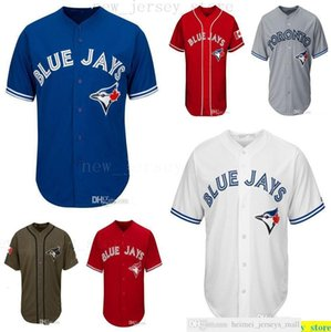 2019th Men Women Youth Kids Blue Baseball Jerseys Blank No Name No Number White Gray Grey Blue Red Canada Day Green Salute to Service Jersey