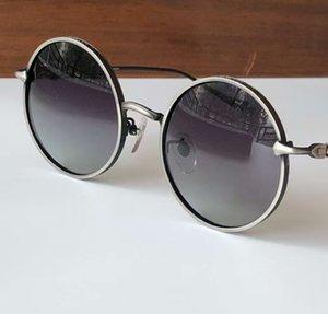 Garina Retro rodada óculos de sol ouro / marrom sombreado moda sol óculos uv400 proteção com caixa