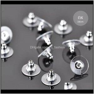 Back Jewelry Findings & Components Jewelryjewelry Earring Aessories Slip Anti Allergic Piercing Earplug Nail Plug Ear Womens Decorative Makeu